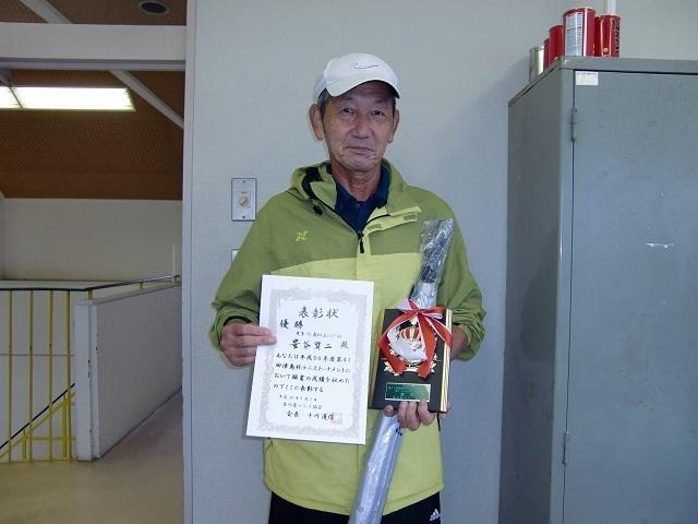 男子70歳以上優勝 豊谷賢二.JPG